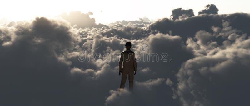 Nas nuvens ilustração do vetor