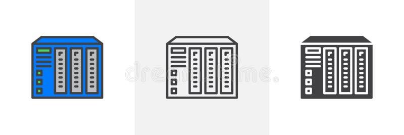 NAS serweru ikona royalty ilustracja