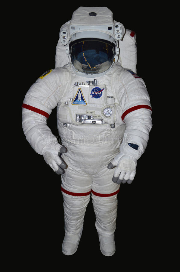 NASA astronaut on display from the Space Shuttle royalty free stock photo