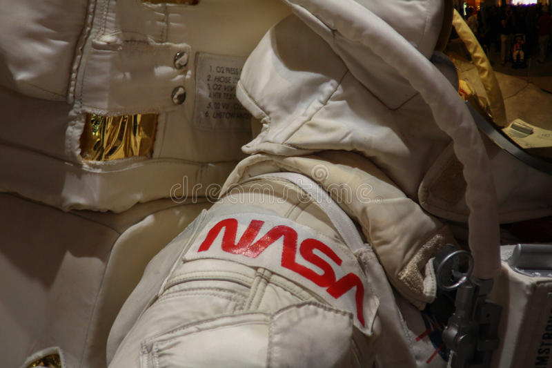 NASA-astronaut spacesuite van Neil Armstrong royalty-vrije stock foto's