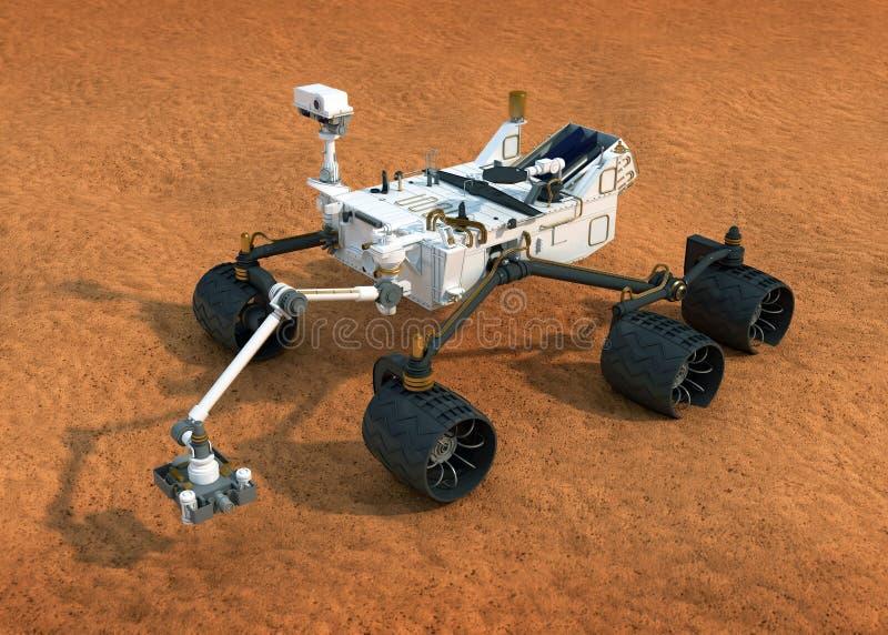 NASA Curiosity Mars rover royalty free illustration