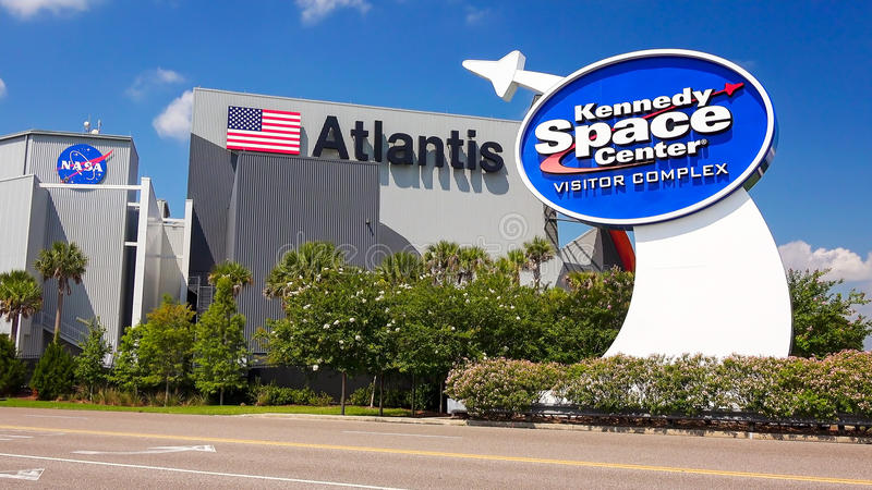 NASA Kennedy Space Center Visitor Complex in Cape Canaveral, Flo fotografie stock libere da diritti