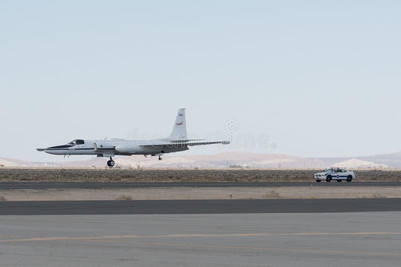 NASA Lockheed ER-2 στην επίδειξη στοκ εικόνες