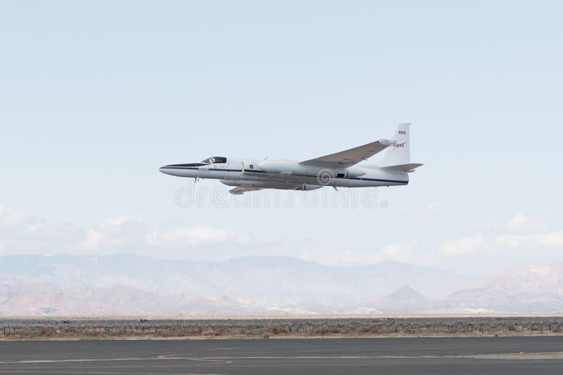 NASA Lockheed ER-2 на дисплее стоковое изображение rf