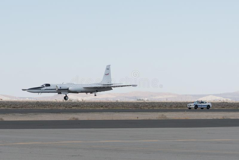 NASA Lockheed ER-2 en la exhibición imagenes de archivo