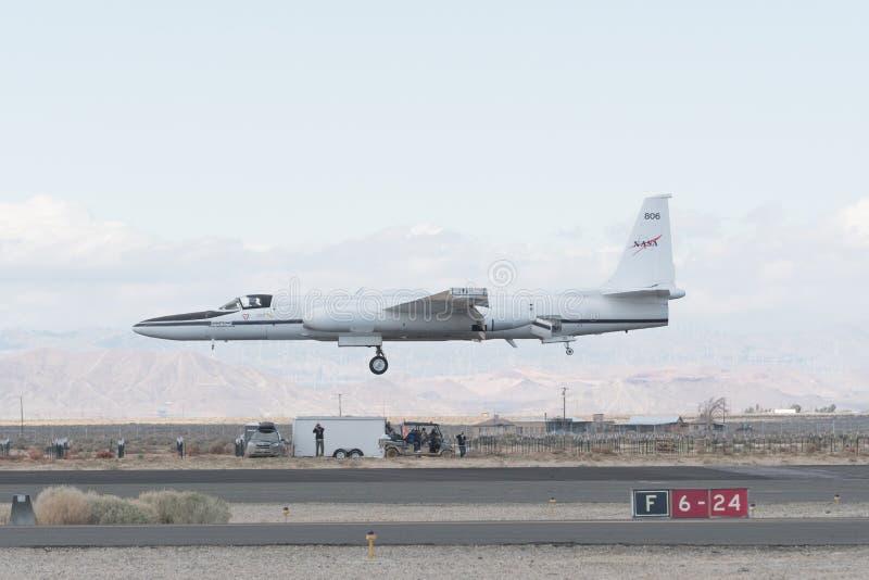 NASA Lockheed ER-2 en la exhibición foto de archivo