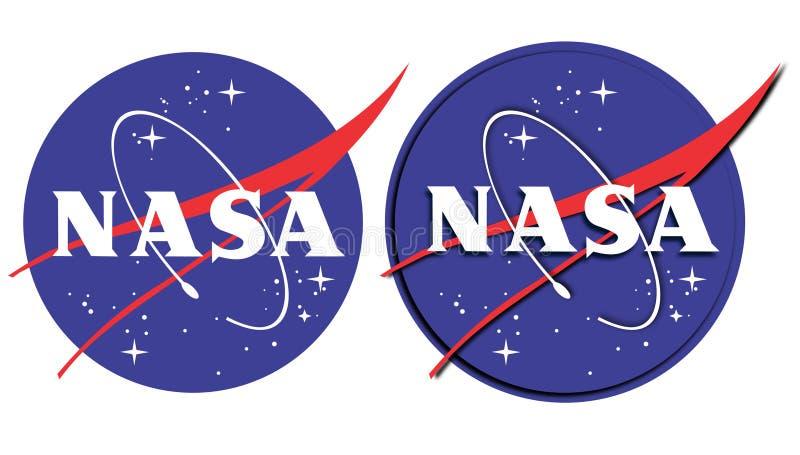 Nasa-logo vektor illustrationer