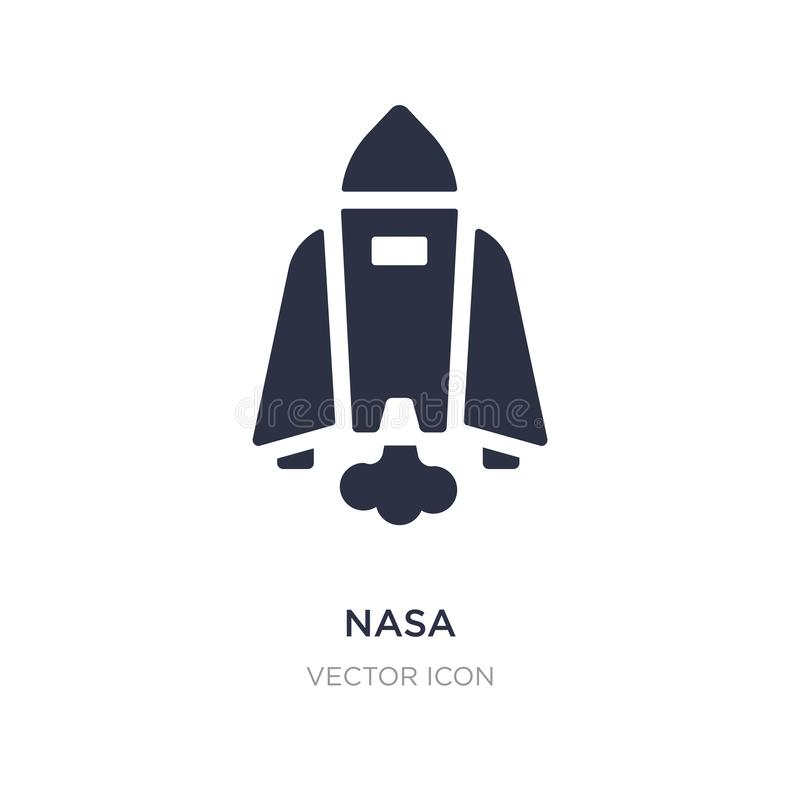 NASA-pictogram op witte achtergrond Eenvoudige elementenillustratie van Astronomieconcept royalty-vrije illustratie