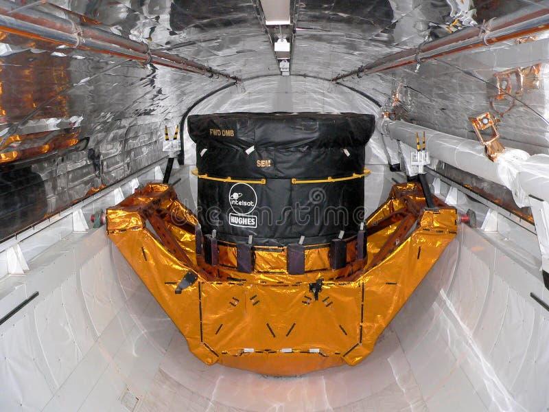 NASA que constrói Kennedy Space Center Florida imagem de stock