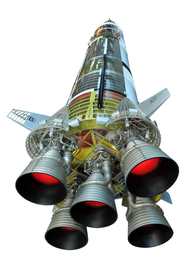 nasa-raket saturn v royaltyfria foton