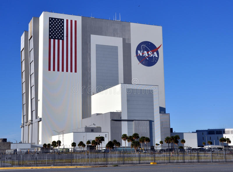 NASA's Vehicle Assembly Building (VAB). In Cape Canaveral, Florida, which was used to assemble the Apollo Saturn V rockets and is now used to assemble the Space stock photography