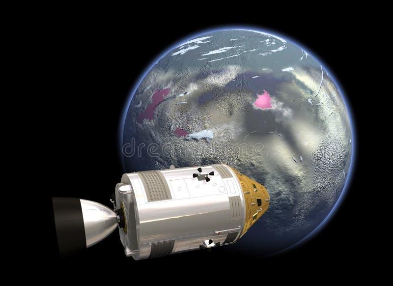NASA space mission. Illustration of the NASA space mission stock illustration