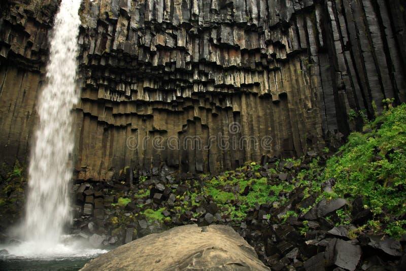 nasadowa wodospad svartifoss zdjęcia royalty free