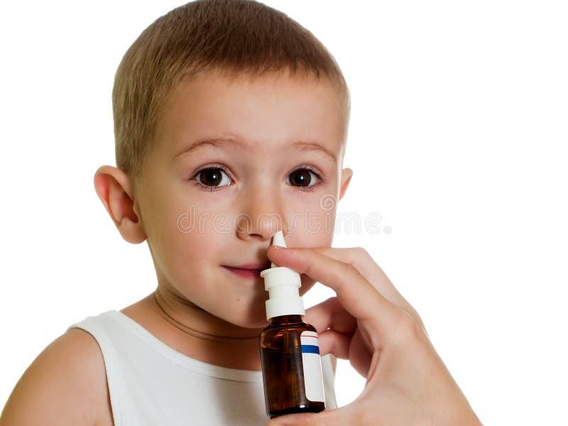 Nasal spray stock image