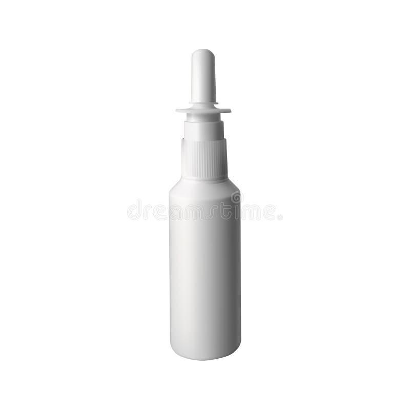 nasal spray vektor illustrationer