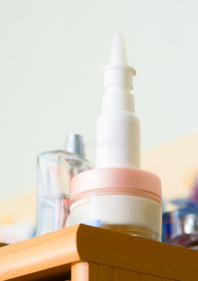Nasaler Spray Stockfoto