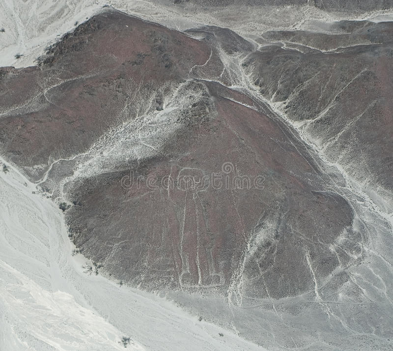 Nasca-astronaut royalty free stock image