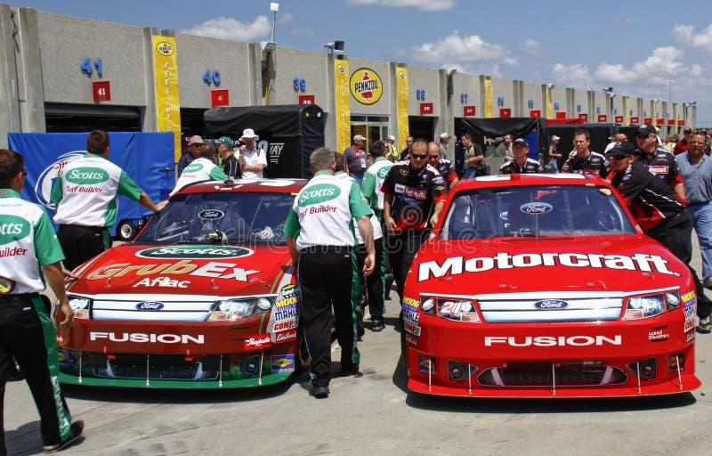 NASCAR - ¡Área ocupada del garage! foto de archivo