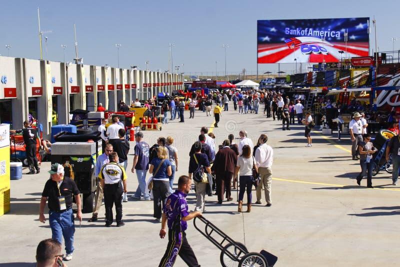 NASCAR - Área ocupada del garage en Charlotte imágenes de archivo libres de regalías