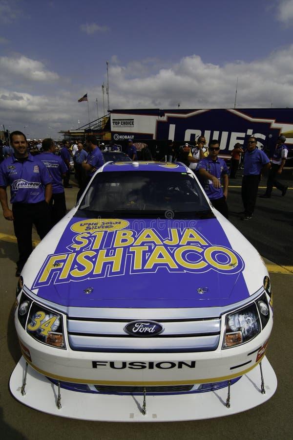 NASCAR - ψάρια Taco Travis Kvapil Baja στοκ εικόνες