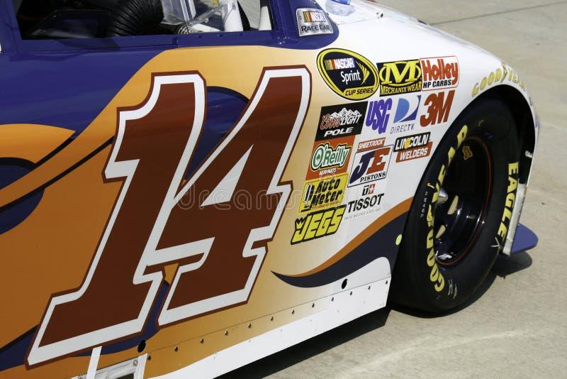 NASCAR -全明星斯图尔特的#14门编号 库存图片