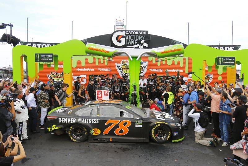 NASCAR :乌龟400的9月17日传说 库存照片