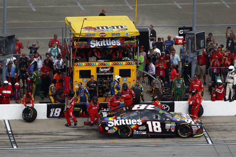 NASCAR :乌龟400的9月17日传说 库存图片
