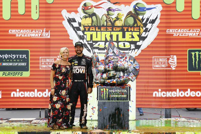 NASCAR :乌龟400的9月17日传说 免版税图库摄影