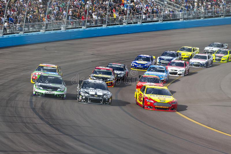NASCAR 2013年:Sprint杯系列AdvoCare 11月500 10日 免版税库存照片