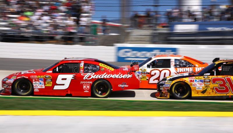 NASCAR 09 - Störung gepackt! lizenzfreie stockfotos