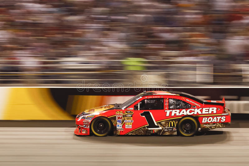 NASCAR - #1 McMurrary is FAST in Richmond. A look at the #1 Bass Pro Shops/Tracker Boats Chevy Impala driven by NASCAR driver Jamie McMurray at the 2010 NASCAR royalty free stock photos