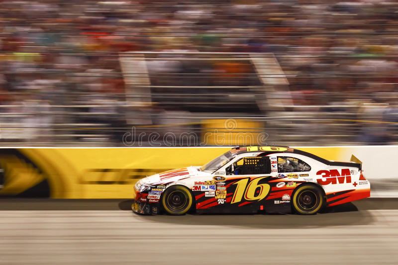 NASCAR - #16 Biffle VOLE à Richmond image stock