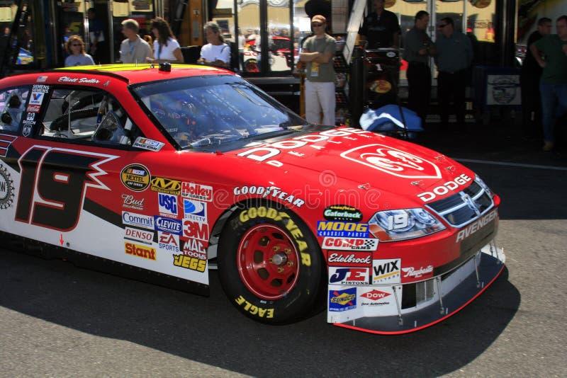 NASCAR - #19 Elliott Sadler dedans photos libres de droits