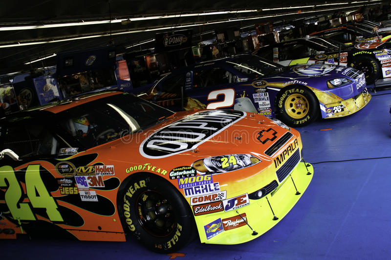 NASCAR - 2010 All Stars In The Garage Editorial Stock Image