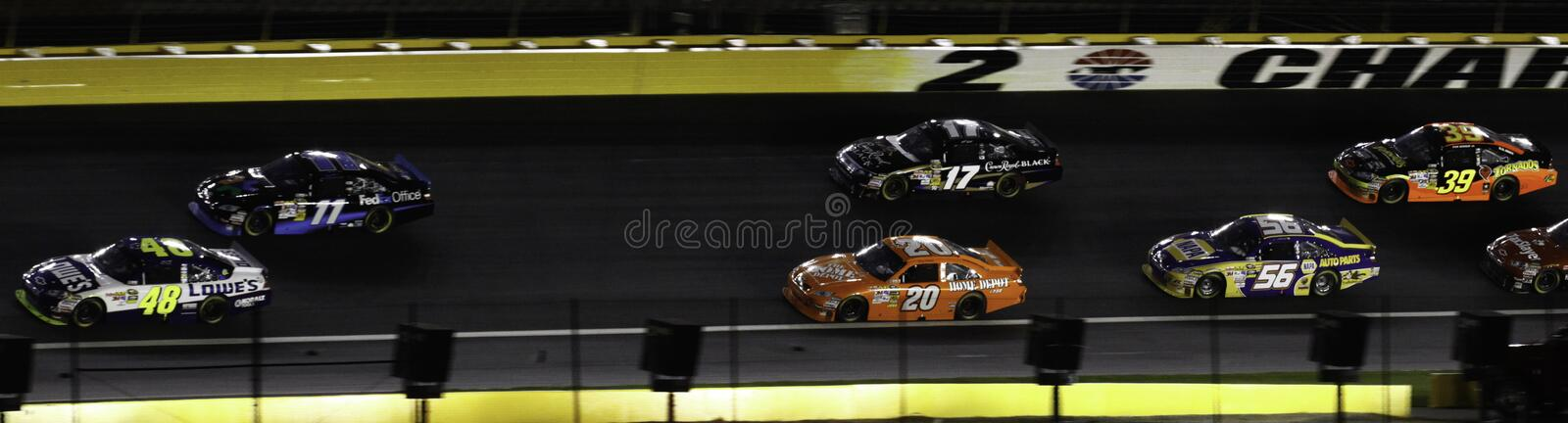 Download NASCAR - 2010 All Stars Stacked Up In Turn 2 Editorial Stock Photo - Image: 14442068