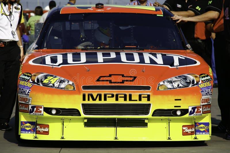 NASCAR 2010 todo el coche de Jeff Gordon de la estrella imagenes de archivo