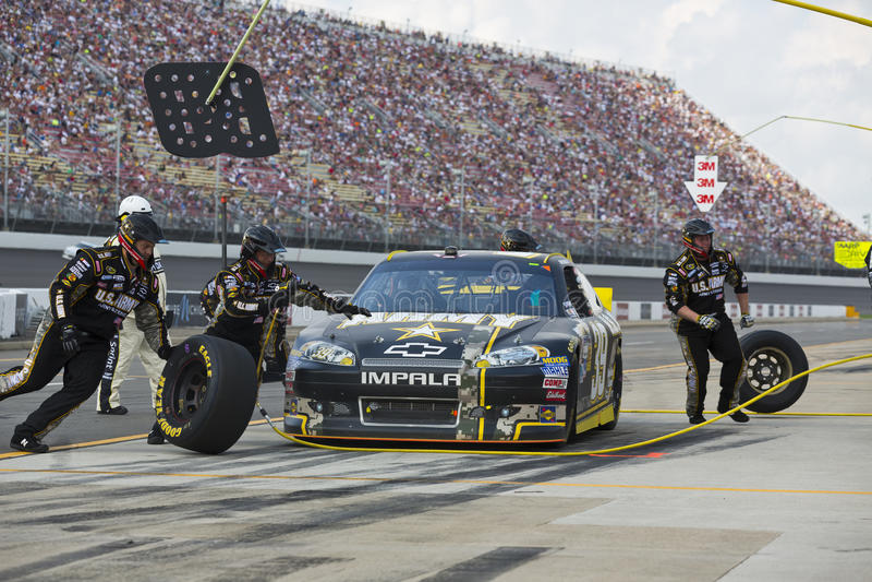 NASCAR 2012: O copo Quicken de Sprint empresta 400 imagem de stock