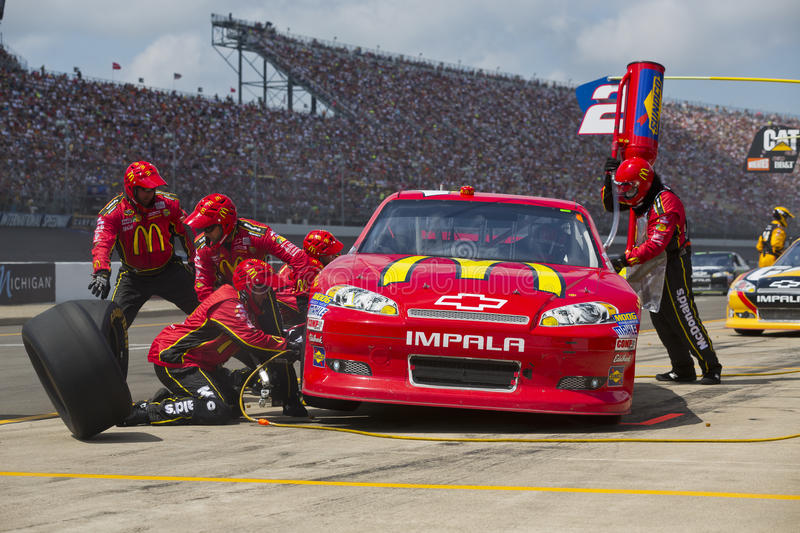 Download NASCAR 2012:  Sprint Cup Quicken Loans 400 Editorial Stock Image - Image: 25360344