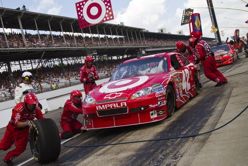 NASCAR: 25. Juli-Ziegelei 400 stockfotografie
