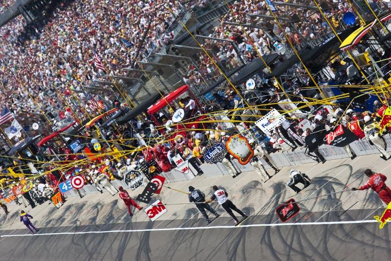 NASCAR: 26 juli Allstate 400 bij Brickyard stock afbeelding