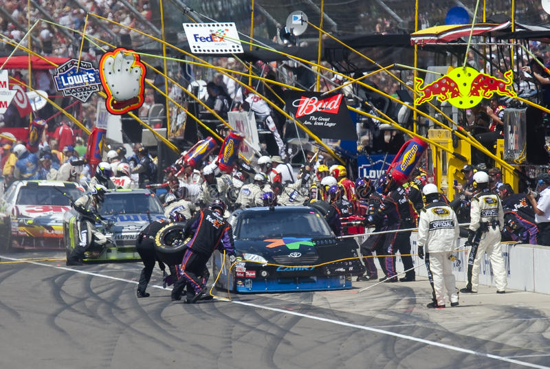 NASCAR: 26 juli Allstate 400 bij Brickyard royalty-vrije stock afbeelding