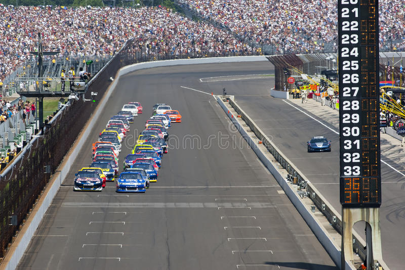 NASCAR: 31. Juli-Ziegelei 400 stockbild