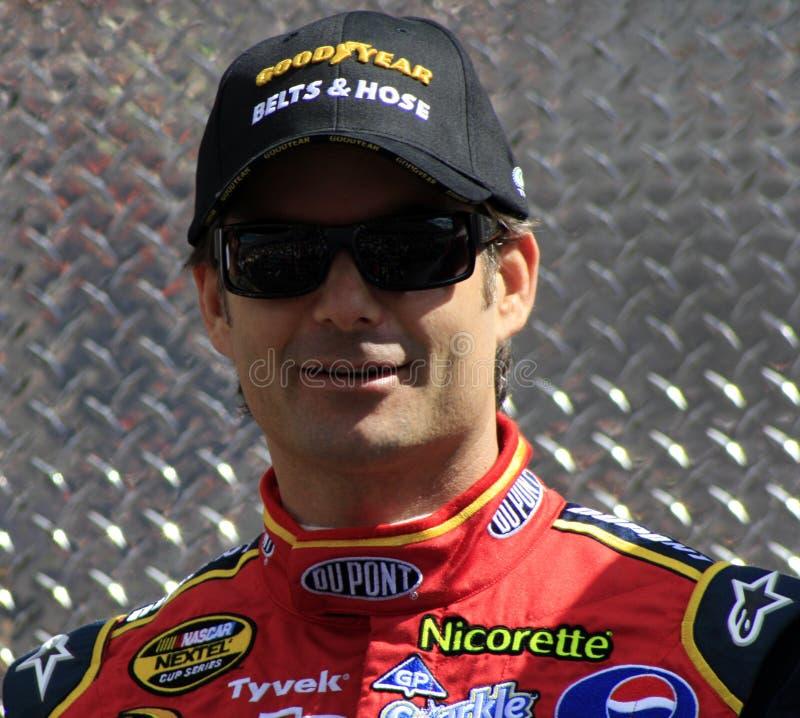NASCAR - 4 calent le champion Jeff Gor image libre de droits