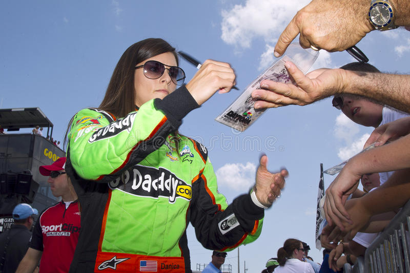 NASCAR: 6 de julio Danica Patrick foto de archivo