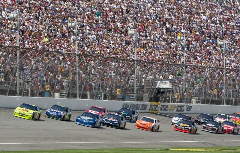 NASCAR: Agosto 16 Carfax 400 fotografia de stock royalty free