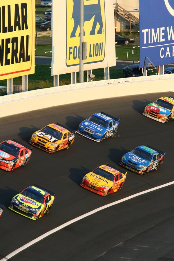 NASCAR - alternativement 3 occupés images libres de droits