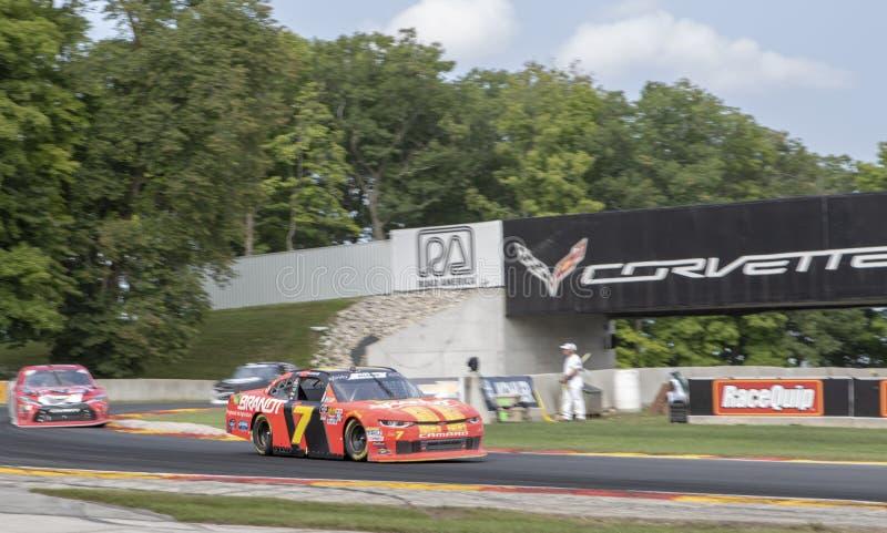 NASCAR : 25 août Johnsonville 180 photographie stock libre de droits