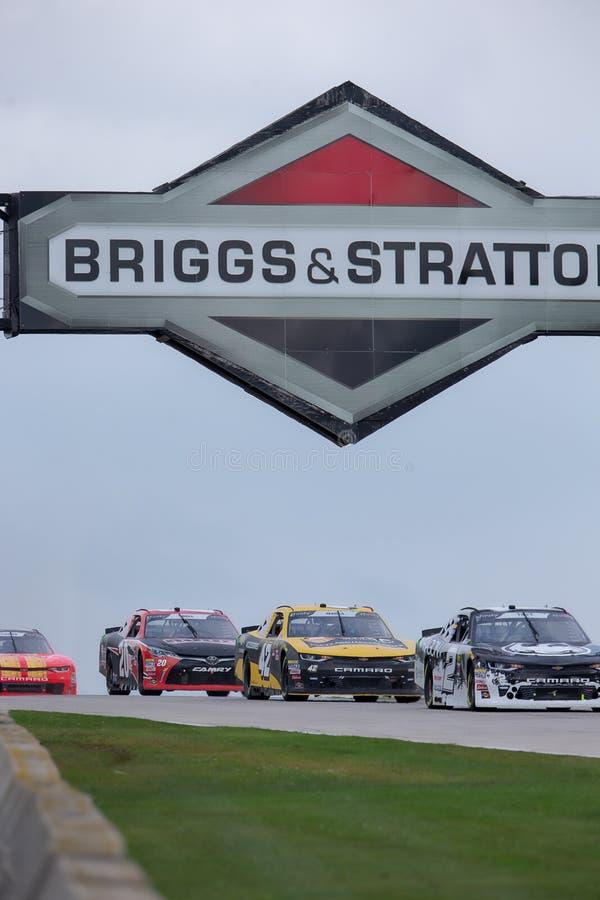 NASCAR : 25 août Johnsonville 180 image libre de droits