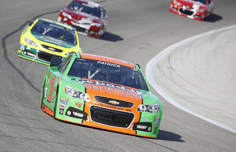 NASCAR: Apr 04 Duck Commander 500. Fort Worth, TX - Apr 04, 2014: Danica Patrick (10) takes to the track for a practice session for the Duck Commander 500 at royalty free stock photos