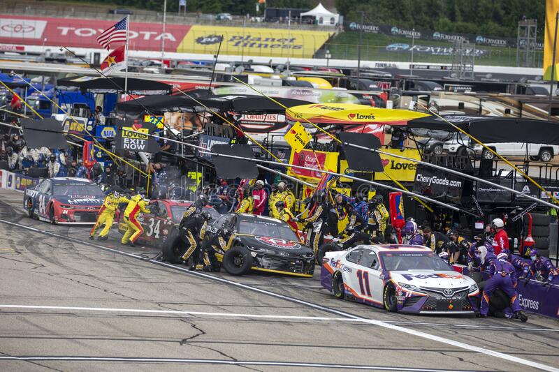 NASCAR: August 02 Foxwoods Resort Casino 301 royalty free stock images